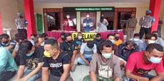 Foto Pelaku pungli yang diaman di Polresta barelang ada 36 pelaku dari 26 titik si Kota Batam.