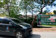 Penguna jalan di depan Mitra 10, tepatnya di Jalan Engku Putri, Batam Kota mengeluhkan bau kotoran hewan kurban.