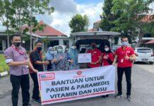 Aksi peduli sosial, Alfamart berikan bantuan kepada masyarakat Kota Batam. (ist)