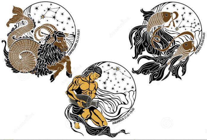 Zodiak Capricorn, Aquarius, dan Pisces. (dreamstime.com)