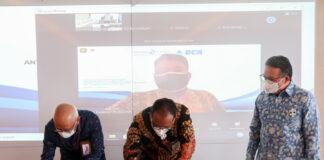 Lembaga Pembiayaan Ekspor Indonesia (LPEI) bekerjasama dengan PT Bank Central Asia Tbk. (BCA) dalam bentuk time loan facility senilai Rp3 triliun dengan tenor 2 tahun. (Foto: Kemenkeu)
