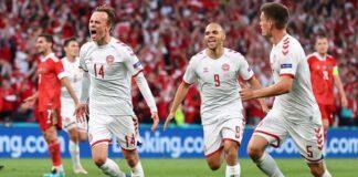 Denmark dalam kondisi bagus jelang duel 16 besar Euro 2020. (Pool via REUTERS/WOLFGANG RATTAY)