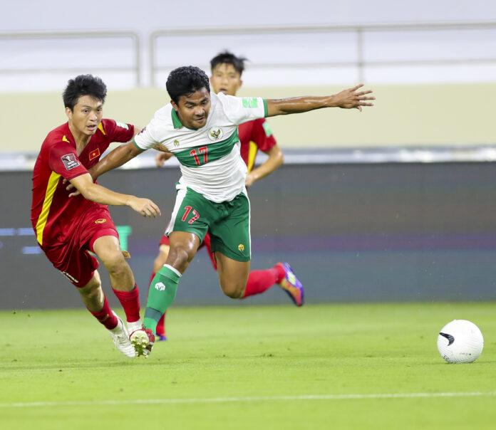 Vietnam menghajar Indonesia 4-0 pada kualifikasi Piala Dunia 2022 di DUbai, Uni Emirat Arab. (Foto dari PSS.org)