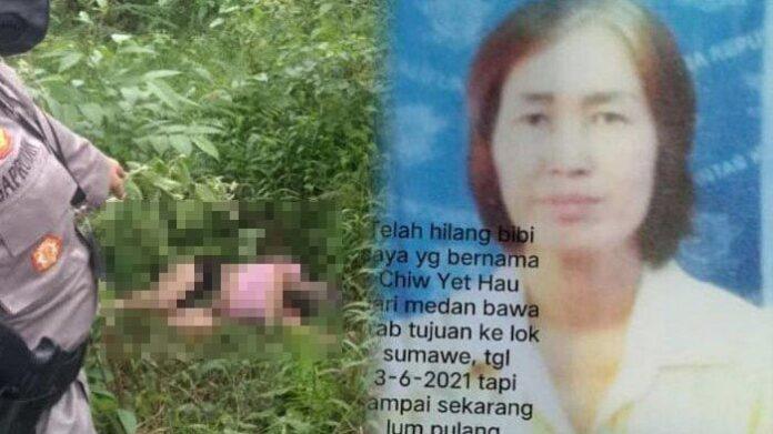 Chiw Yet Hau, sopir taksi online yang dibunuh dan mayatnya dibuang ke jurang, Selasa (8/6/2021).(