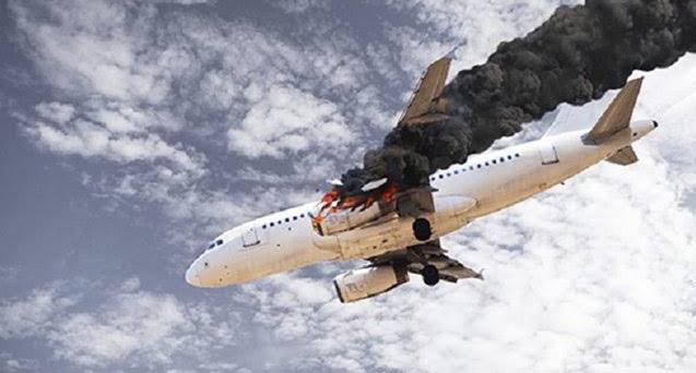 Ilustrasi kecelakaan pesawat/ Foto: makassar.terkini.id