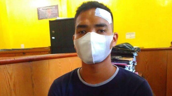 Aksi ganas preman menimpa anggota TNI AD Pratu Tumpal Tampubolon di Jalan Danau Marsabut, Kecamatan Medan Barat