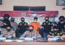 Foto Satres Narkoba Polres Bintan menangkap seorang Pekerja Imigran Indonesia (PMI) berinisial SU (34).
