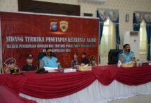 Sebanyak 441 calon siswa Bintara dan 31 calon siswa Tamtama Polri dinyatakan lulus memenuhi Syarat untuk mengikuti pendidikan Bintara dan Tamtama Polri, pada Sidang terbuka penetapan kelulusan, Jumat (23/7/2021).