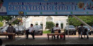 Penetapan status terbaru Kota Batam, diumumkan langsung oleh Wali Kota Batam, Muhammad Rudi kepada seluruh pejabat Pemko Batam, di Dataran Engku Putri, Batam Center, Jumat (9/7/2021) sore.