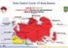 BATAM MERAH MENYALA. Peta sebaran kasus positif Covid-19 di Kota Batam, Kepulauan Riau, Jumat 16 Juli 2021. (Sumber: Satgas Covid-19 Kota Batam).