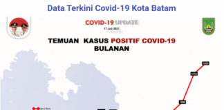 Data perkembangan kasus Covid-19 sejak bulan Maret 2020 hingga 17 Juli 2021. (Sumber: Satgas Covid-19 Batam).