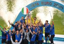 Tim nasional Italia menjuarai EURO 2020 setelah mengalahkan Inggris melalui adu penalti (3-2). Kedua tim bermain imbang 1-1 sampai berakhirnya 2x15 menit extra time. (Foto: UEFA.com)