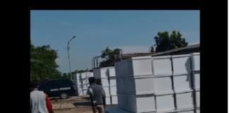 Tangkapan layar video mengenai tumpukan jenazah korban Covid-19 di Krematorium Keputih Surabaya, Jawa Timur, Minggu (18/7/2021).