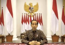 Presiden Joko Widodo menyampaikan pernyataan terkait perkembangan PPKM Darurat di Istana Kepresidenan Bogor, Jawa Barat, pada Selasa, 20 Juli 2021. Foto: BPMI Setpres