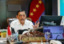 Menteri Koordinator Bidang Kemaritiman dan Investasi (Marves) Luhut B. Pandjaitan