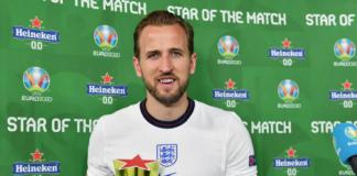 Mencetak dua gol dalam kemenangan 4-0, kapten Inggris Harry Kane terpilih sebagai Star of the Match melawan Ukraina pada perempat final EURO 2020 di Roma, Sabtu (3/7/2021) atau Minggu dinihari waktu Indonesia. (Uefa.com)