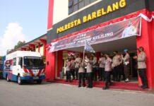 Foto Pelepsan gerai vaksinasi keliling di Polresta Barelang