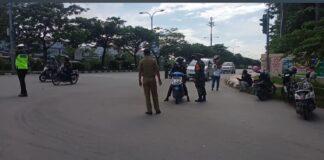 Foto ttitik penyekatan PPKM Darurat Kota Batam