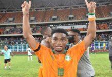 Pemain muda MU Amad Diallo berseragam tim nasional Pantai Gading.