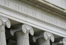 Departemen Keuangan Amerika Serikat. (CNA)