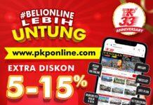 PKP memberikan Extra Diskon 5 % - 15 %, Free Peralihan Hak Developer dan Dobel Kupon Undian untuk pembelian melalui www.pkponline.com