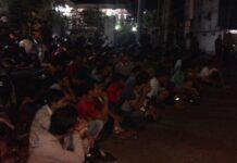 Foto ilustrasi ratusan anggota geng motor yang diamankan jajaran Polres Tanjungpinang dari razia beberapa waktu lalu. Di Cikini kawanan diduga geng motor serang warga dan tewaskan satu orang