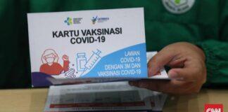 ilustrasi kartu vaksin covid-19