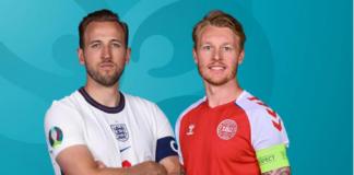 Kapten Harry Kane dan Simon Kjær. (Foto: Getty Images via UEFA.com)