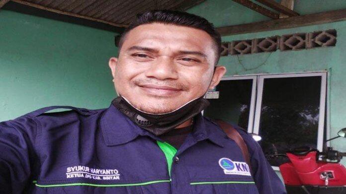 Foto Ketua Kesatuan Nelayan Tradisional Indonesia (KNTI) Bintan, Syukur Harianto