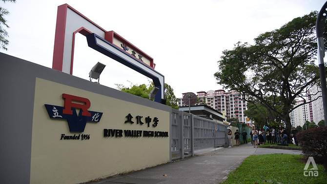 River Valley High School pada 19 Juli 2021. (Foto: Calvin Oh/Channel News Asia)