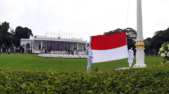 Upacara memperingati HUT Republik Indonesia tahun ini digelar terbatas berkenaan dengan pandemi virus corona yang belum usai (Rusman - Biro Setpres)