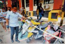 Foto : 7 unit sepeda motor hasil tindak pidana pencurian pelaku inisal ARA dan DG diamankan Dit Reskrimum Polda Kepri. (dok)