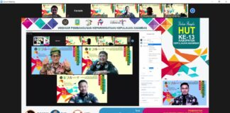 "Webinar Pembangunan Kepariwisataan Kepulauan Anambas dengan mengusung tema ""Tantangan dan Harapan Pembangunan Kepariwisataan di Kabupaten Kepulauan Anambas"" (Kamis, 29/07/2021)."