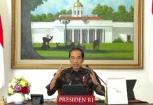 Presiden Joko Widodo memimpin rapat terbatas tentang evaluasi perkembangan dan tindak lanjut Pemberlakuan Pembatasan Kegiatan Masyarakat (PPKM) Level 4 melalui konferensi video dari Istana Kepresidenan Bogor, Jawa Barat, pada Sabtu, 7 Agustus 2021. (Foto: BPMI Setpres)
