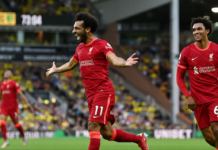 Mohamed Salah menjadipemain pertama dalam sejarah Liga Premier Inggris yang selalu mencetak gol pada pekan pertama liga selama lima musim berturut-turut.(Foto dari Premierleague.com)