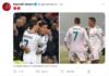 Bek anyar MU yang ditebus dari Real Madrid, Raphael Varane, memosting foto dirinya bersama Cristiano Ronaldo saat mereka masih bersama membela Real Madrid. (Tangkapan layar Twitter/Suryakepri.com)