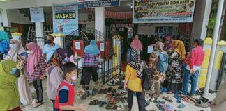 BIN Kepulauan Riau menyambangi anak berkebutuhan khusus dan disabilitas pelajar di Sekolah Luar Biasa se-Provinsi Kepri untukt vaksin dosis pertama, pada Selasa (31/08/2021) di SLB Putrakami Kota Batam