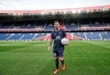 Lionel Messi di Le Parc des Princes.