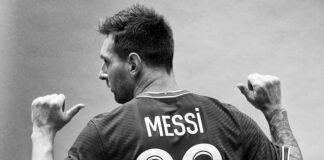 Messi mengenakan jersey No 30 di PSG