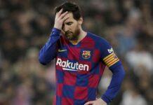 Lionel Messi saat masih berseragam Barcelona.
