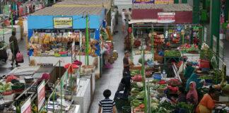 Suasana sebuah pasar tradisional di Indonesia.(Foto: Kemenkeu)