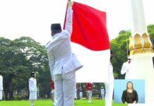 Pengibaran bendera Merah Putih upacara HUT RI KE-76 di Istana Merdeka (Screenshot YouTube Setpres)