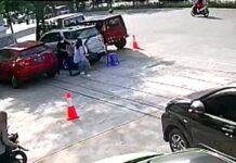 Foto: Rekaman CCTV istri di Makassar tikam selingkuhan suami. (dok. Istimewa)