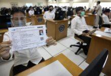 Foto: Tes CPNS di Tengah Pandemi (CNBC Indonesia/ Andrean Kristianto)