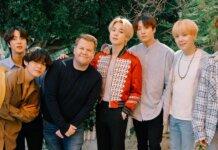 BTS dan James Corden (Twitter/ JKCorden)