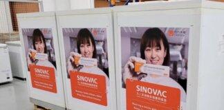Dosis vaksin Sinovac COVID-19 tiba pada 20 Sep 2021. (Foto: Facebook/Ong Ye Kung via CNA)