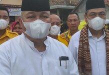 Foto Ketua Dewan Pertimbangan Partai Golkar Sumsel Alex Noerdin saat melakukan kampanye di Ogan Ilir Minggu (15/11/2020) foto: kc