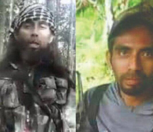 Ali Kalora alias Ali Ahmad, sebelah kiri adalah foto lamanya, dan sebelah kanan adalah foto barunya(AFP)