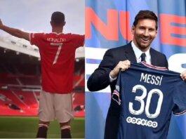 Cristiano Ronaldo dan Lionel Messi. Penjualan jersey No7 Ronaldo jauh melampaui penjualan kaus No 30 Messi. Selisihnya mencapai triliunan rupiah.