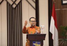 Sekretaris Menteri Koordinator Bidang Perekonomian RI, Susiwijono Moegiarso, dalam acara pelantikan Anggota Bidang Kebijakan Strategis BP Batam, pada Kamis (2/9/2021).
